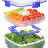 Sistema Klip It 37.1-Ounce Salad to Go Container, Clear