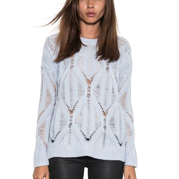 rendezvous pullover - light blue - pullovers