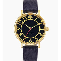kate spade new york Metro Navy Saffiano Leather Strap Watch - Navy