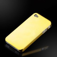 """Liquid Gold """"Reflections"""" Metallic finish case cover for Apple iPhone 4"""