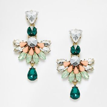 Cassie | Johnny Loves Rosie Cassie Statement Drop Earrings at ASOS