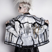 TRASHGLAM CUSTOM made HOLLYWOOD punk studded chained spiked jacket-made to to order 1980s 80s 1990s
