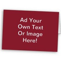 #Cinnabar #Solid Color - #Customizable #Card, #red