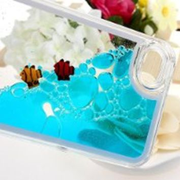 Case for iPhone 4s,Cover for iPhone 4s,Case for iPhone 4,Hard Case for iPhone 4s,Nsstar Creative Design Flowing Liquid Swimming Dolphins Hard Case for Apple iPhone 4 4S with 1PCS Free Cup Mat Color Random(Dolphins:Blue)