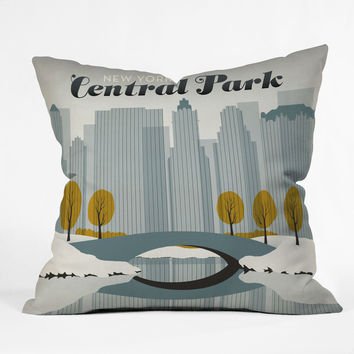 Anderson Design Group Central Park Snow Throw Pillow