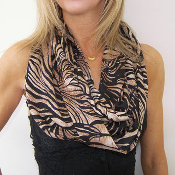 GRAND OPENING SALE / Animal Infinity Scarf  / Jersey Knit Animal Infinity Scarf