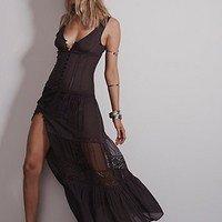 Free People Womens Victoria Buttonfront Maxi