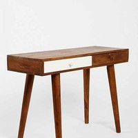 Assembly Home Contrast Drawer Desk- Brown One