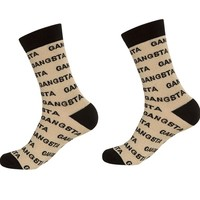 Metallic Gangsta Unisex Crew Dress Socks - As Worn By Beyonce in Music Video - Ships 3/18