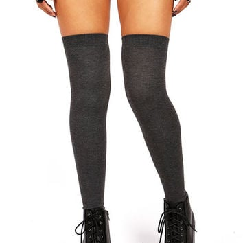 Solid Thigh Highs