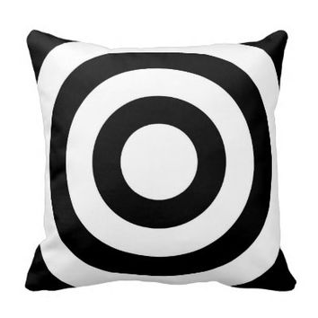 Elegant black white circles - Turn Pillow