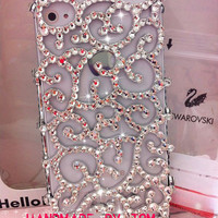 Hofgarten hollow iPhone 4 case iPhone 5 case iPhone 4s case bling bling rhinestone iPhone cover
