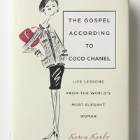 The Gospel According To Coco Chanel: Life Lessons From The World's Most Elegant Woman by Anthropologie Ivory One Size Gifts