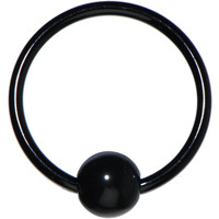 16 Gauge Black Acrylic Ball Captive Ring | Body Candy Body Jewelry