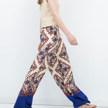 LOOSE-FIT PRINTED TROUSERS New
