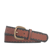 J.Crew Womens Half-Moon Embossed Leather Belt