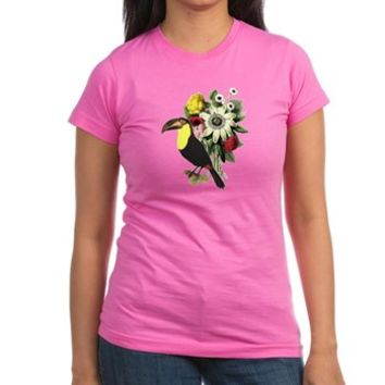Tropical Bird Flowers T-Shirt> Tropical Bird Flowers> Funny Gifts Ideas