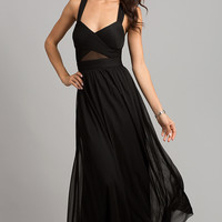 Black A-Line Gown by Betsy and Adam