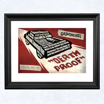Death Proof art print by purplecactusdesign on Etsy