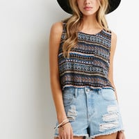 Striped Geo Pocket Tank
