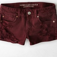 AEO Women's Denim Shortie (Merlot)
