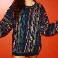 1980's Australian Colorful Oversized Vintage Sweater