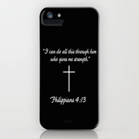 Phillipians 4:13 Gifts iPhone Case by productoslocos | Society6