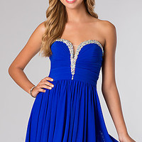 Strapless Short Homecoming Dress from JVN by Jovani