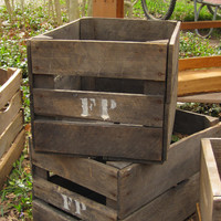 Wooden Peach Crates- Vintage Old Orchard Baskets, Fall Holiday Home Decor, Halloween, Tables, Outdoor Furniture, Bar Decor, Man cave