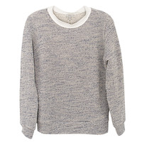 Clu Silk Trimmed Tweed Pullover | Les Pommettes