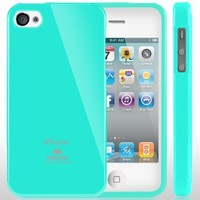 iPhone 4S Case, Caseology [Drop Protection] Apple iPhone 4/4S Case [Turquoise Mint] Slim Fit TPU Cover [Shock Absorbent] Armor Bumper iPhone 4/4S Case [Made in Korea] (for Apple iPhone 4/4S Verizon, AT&T Sprint, T-mobile, Unlocked)