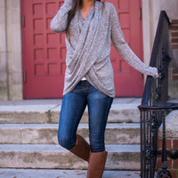 Wrapped Love Top, Taupe
