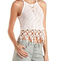 Daisy Chain Slub Knit Crop Top by Charlotte Russe