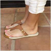 Canyon Faux Leather Buckle Sandals