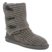 Bearpaw Tall Sweater Button Boots in Grey for Women