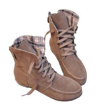Angel Wings Girls Lace up Winter Boots Flat Ankle Shoes Mothers Day Gifts (39)