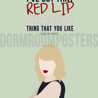 Taylor Swift Style 1989 Dorm Room Poster Print
