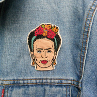 Frida Kahlo Embroidered Patch/Brooch