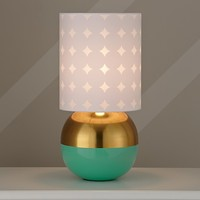 Metallic Gold and Aqua Table Lamp in Table Lamps | The Land of Nod