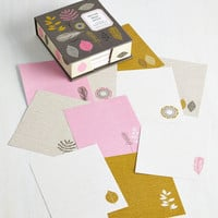 ModCloth Rustic At Fun with Nature Stationery Set