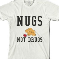 White T-Shirt   Funny Chicken Nuggets Food Shirts