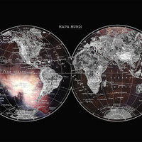 World Map in the Galaxy  Astronomy Print