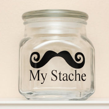 My Stache  Mustache Money Jar  Curly Handlebar by TheBeautifulHome