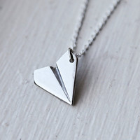 Paper Airplane Necklace- Inspired by Harry Styles from One Direction