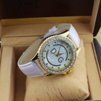 New women's fashion dress listed luxury diamond watches ladies quartz watch high quality leather strap clock relojes 8 color