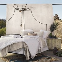 Italian Campaign Canopy Bed