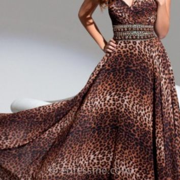 Leopard Print Prom Gown by Tony Bowls Le Gala
