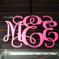 Vinyl Monogram Car Decal by MEEsDesigns on Etsy