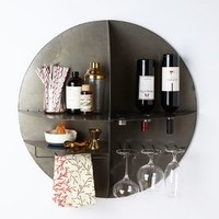 Bottoms-Up Bar Shelf  by Anthropologie Silver One Size Office