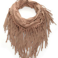 Festival Nights Fringed Infinity Scarf
